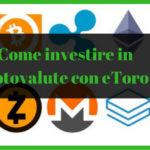Come investire in criptovalute con eToro